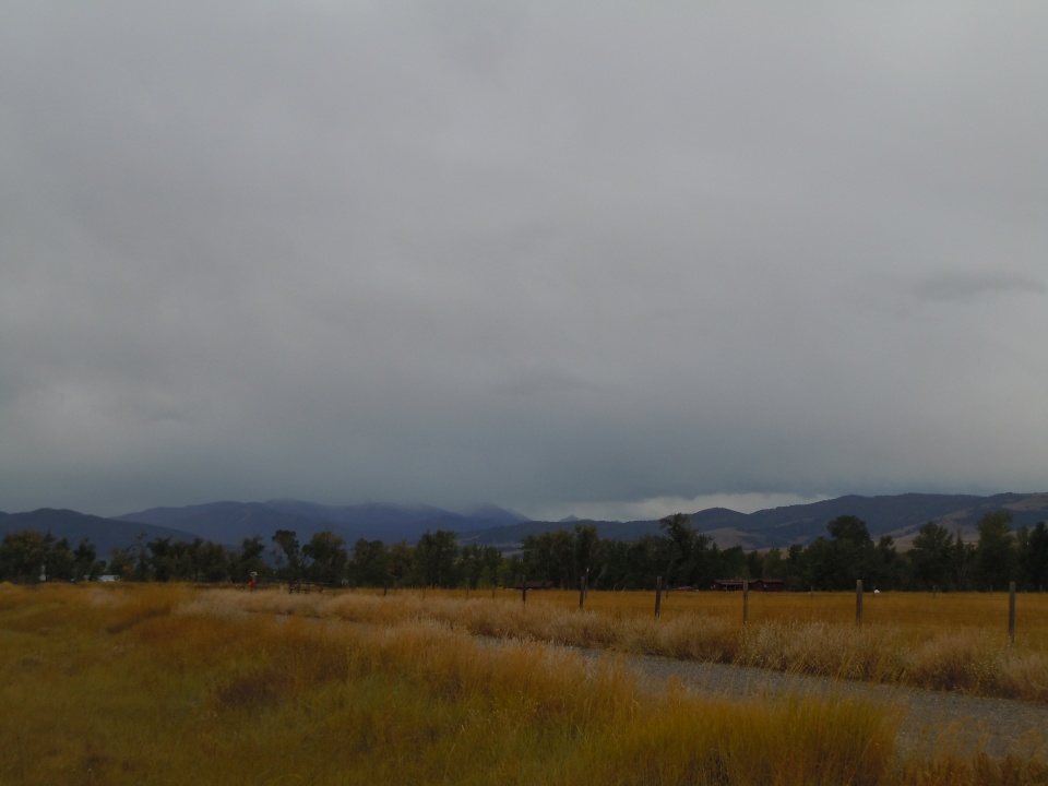 Snow clouds over the Spanish Peaks 9-24-13