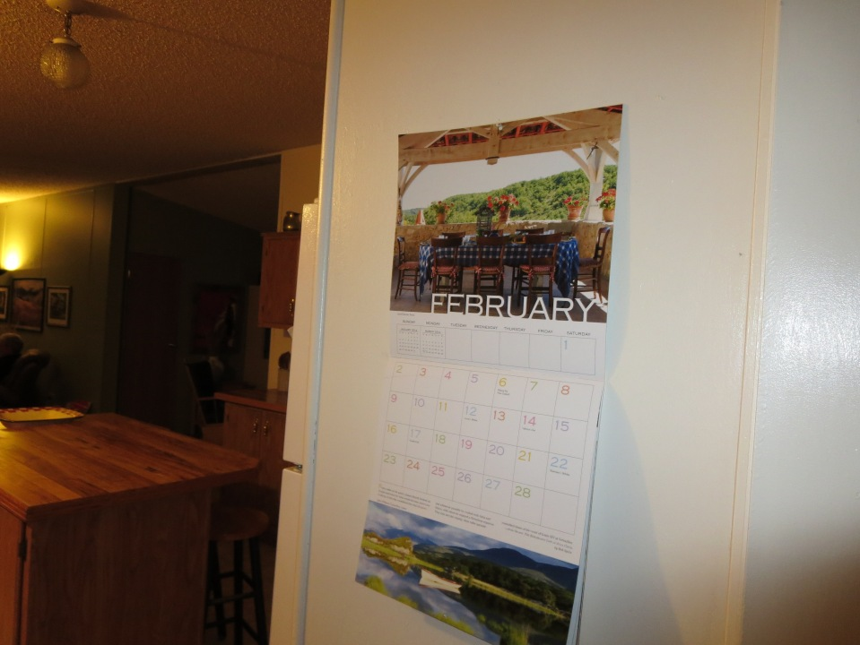 My French  kitchen calender for 2014