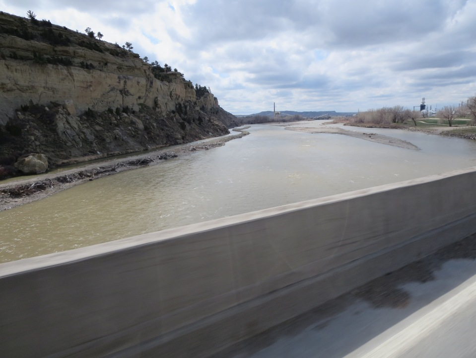 The muddy Yellowstone in Billings today. 4.12.14