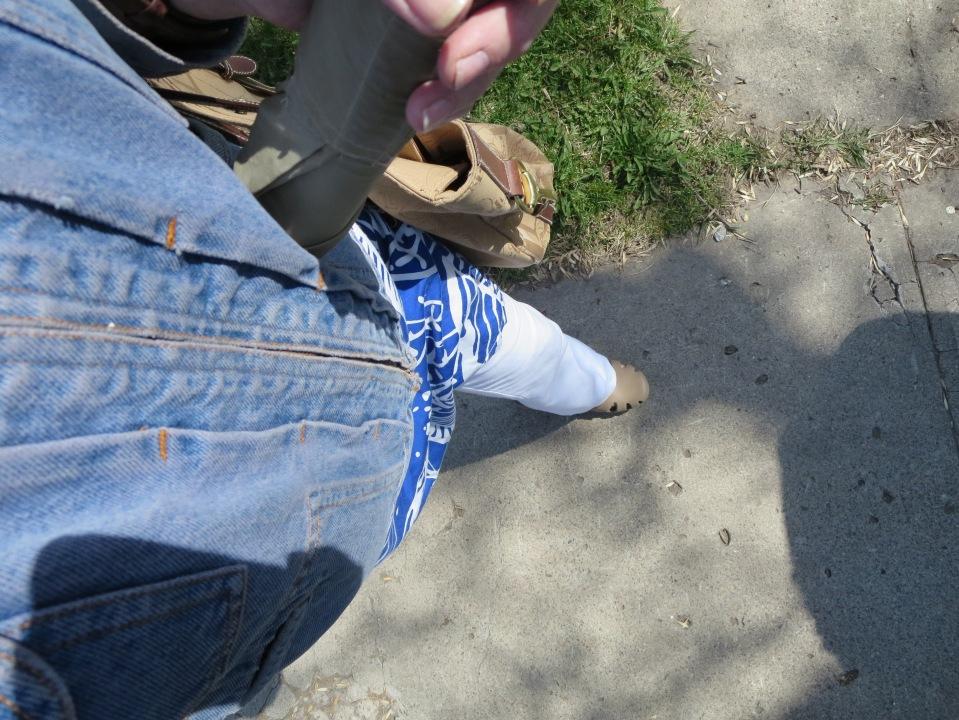 Walking  to MSU